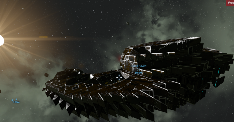 """Prototype Dreadnought """"Blood Raven"""" Attacked by Pirates"""